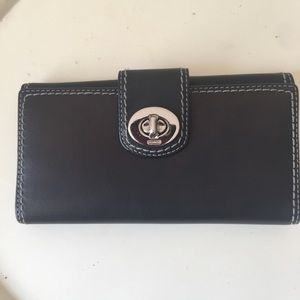 Coach Leather Turn Key Wallet